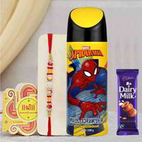 Spiderman Wall Crawler Deodorant Rakhi Gift Pack
