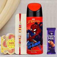 Spiderman Web Slinger Deodorant Rakhi Gift Pack