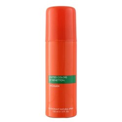 United Colors Of Benetton Orange No Gas Deodorant Spray For Women