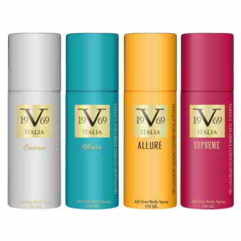 Versace V1969 Italiano Entice, Dare, Allure, Supreme Value Pack Of 4 Deodorants
