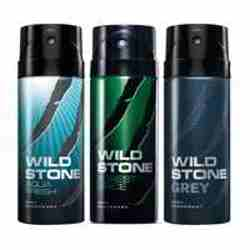 Wild Stone Aqua Fresh Forest Spice Grey Pack of 3 Deodorants