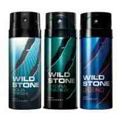 Wild Stone Aqua Fresh Hydra Energy Legend Pack of 3 Deodorants