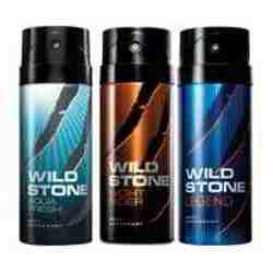 Wild Stone Aqua Fresh Night Rider Legend Pack of 3 Deodorants