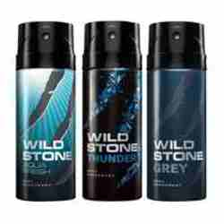 Wild Stone Aqua Fresh Thunder Grey Pack of 3 Deodorants