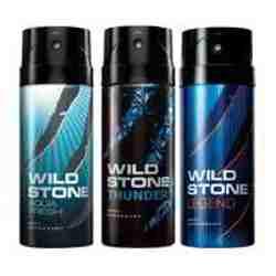 Wild Stone Aqua Fresh Thunder Legend Pack of 3 Deodorants