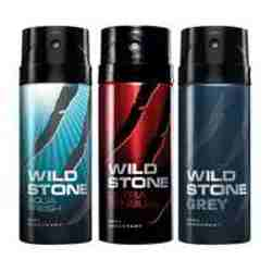 Wild Stone Aqua Fresh Ultra Sensual Grey Pack of 3 Deodorants