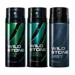 Wild Stone Forest Spice Hydra Energy Grey Pack of 3 Deodorants