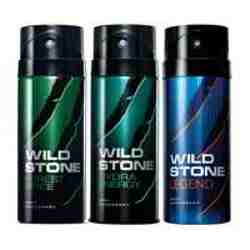 Wild Stone Forest Spice Hydra Energy Legend Pack of 3 Deodorants