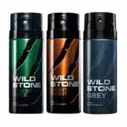Wild Stone Forest Spice Night Rider Grey Pack of 3 Deodorants