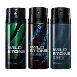 Wild Stone Forest Spice Thunder Grey Pack of 3 Deodorants