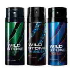 Wild Stone Forest Spice Thunder Legend Pack of 3 Deodorants