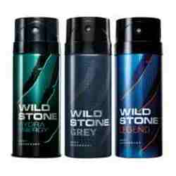 Wild Stone Hydra Energy Grey Legend Pack of 3 Deodorants