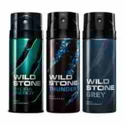 Wild Stone Hydra Energy Thunder Grey Pack of 3 Deodorants