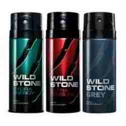 Wild Stone Hydra Energy Ultra Sensual Grey Pack of 3 Deodorants