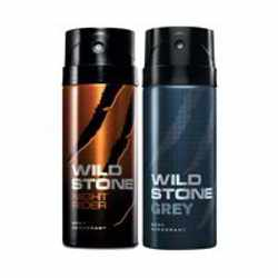 Wild Stone Night Rider Grey Pack of 2 Deodorants