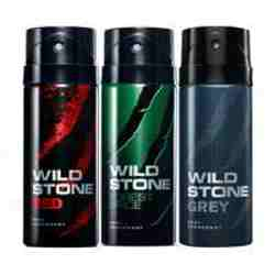 Wild Stone Red Forest Spice Grey Pack of 3 Deodorants