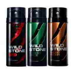Wild Stone Red Forest Spice Night Rider Pack of 3 Deodorants