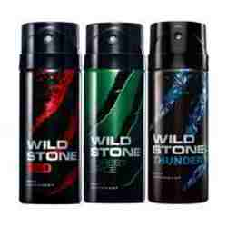 Wild Stone Red Forest Spice Thunder Pack of 3 Deodorants