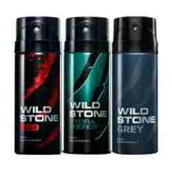 Wild Stone Red Hydra Energy Grey Pack of 3 Deodorants