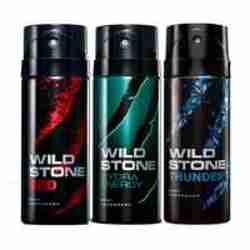 Wild Stone Red Hydra Energy Thunder Pack of 3 Deodorants
