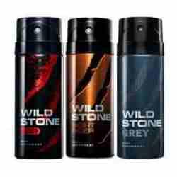 Wild Stone Red Night Rider Grey Pack of 3 Deodorants