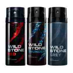 Wild Stone Red Thunder Grey Pack of 3 Deodorants