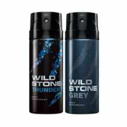 Wild Stone Thunder Grey Pack of 2 Deodorants