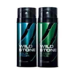Wild Stone Forest Spice, Aqua Fresh Pack of 2 Deodorants