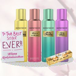 Women Secret Deodorants Rakhi Return Gift Hamper