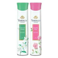 Yardley London English Rose, Jasmine Pack of 2 Deodorants For Women