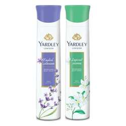 Yardley London Jasmine, English Lavender Pack of 2 Deodorants For Women