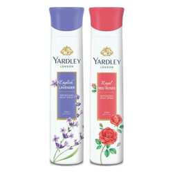 Yardley London Red Roses, English Lavender Pack of 2 Deodorants For Women
