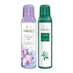 Yardley London Morning Dew, Jasmine Pack of 2 Deodorants For Women