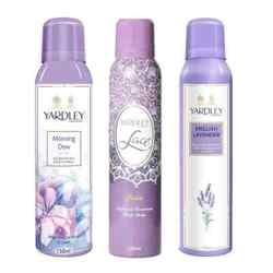 Yardley London Morning Dew, Lace Satin, English Lavender Pack of 3 Deodorants
