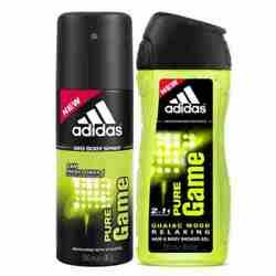 Adidas Pure Game Combo Of Shower Gel And Deodorant