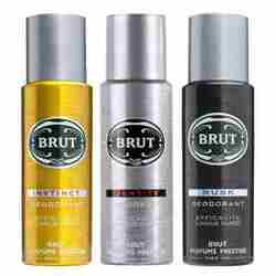 Brut Value Combo Of 3 Deodorants - Musk Instinct And Identity