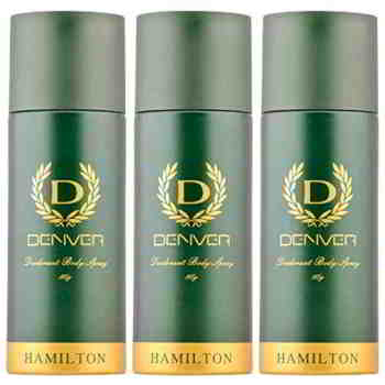 Denver Hamilton Extra Strong Pack Of 3 Deodorants