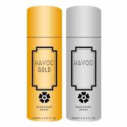 Havoc Gold And Silver Pack Of 2 Deodorants