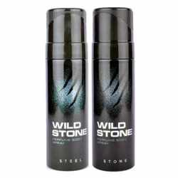 Wild Stone Steel And Stone Pack of 2 No Gas Deodorant For Men
